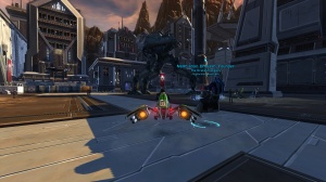Nelth on speeder in all his tentacle glory
