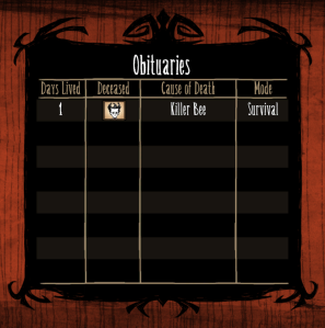 Don't starve Day Z Death no.1